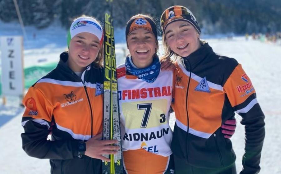 Le ragazze della staffetta U13 del Comitato Alpi Occidentali