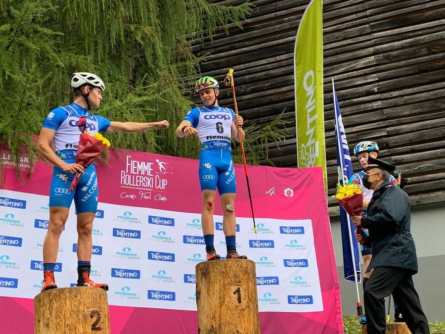 Mondiali Skiroll - Le emozioni dei giovani azzurri Elia Barp ed Aksel Artusi dopo l'oro e l'argento