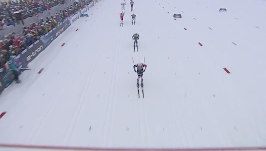 Fondo - Mass start Oberstdorf, De Fabiani secondo alle spalle di Iversen