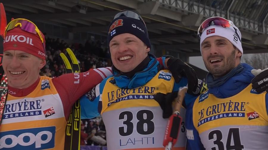 Il podio di Lahti