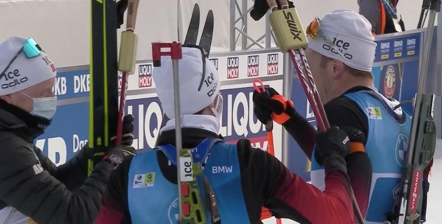 Biathlon - Dominio Norvegia nella staffetta maschile dei Mondiali a Pokljuka. Italia 6^ con rammarico