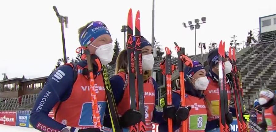 Biathlon - Una super Italia nella mista è seconda alle spalle di una inarrivabile Norvegia