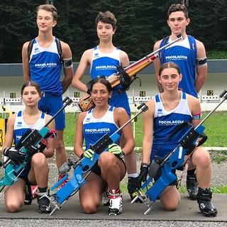 La squadra di biathlon dell'Asd Focolaccia