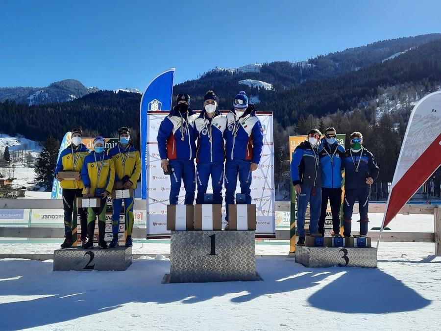 Biathlon - Campionati Italiani Giovanili e Coppa Italia Senior: tutti i podi delle staffette maschili di Tesero