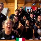 It's coming Rome! Gli azzurri degli sport invernali festeggiano il tronfo dell'Italia di Mancini
