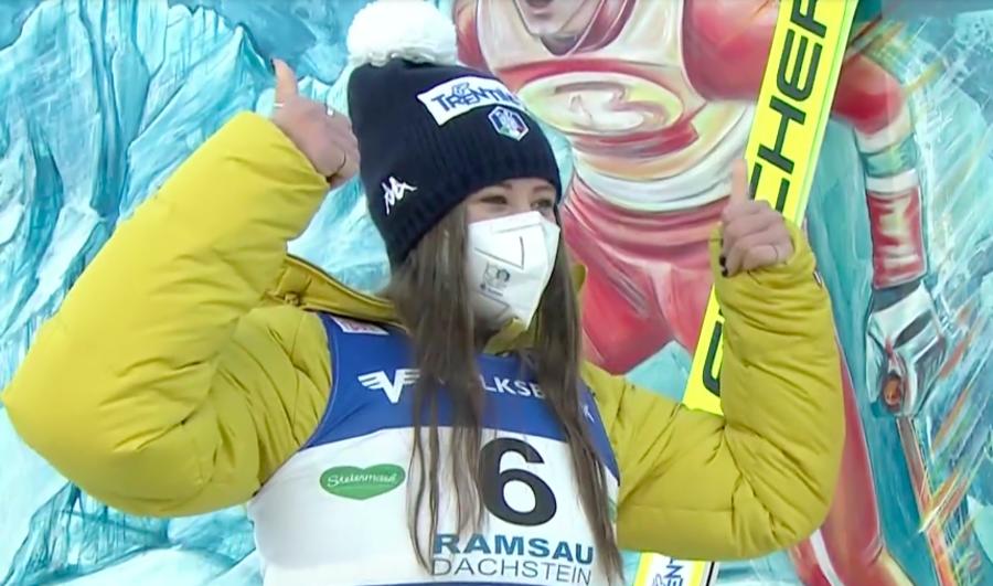 Combinata Nordica - Il primo PCR della Coppa del Mondo femminile va all'Italia con una super Annika Sieff