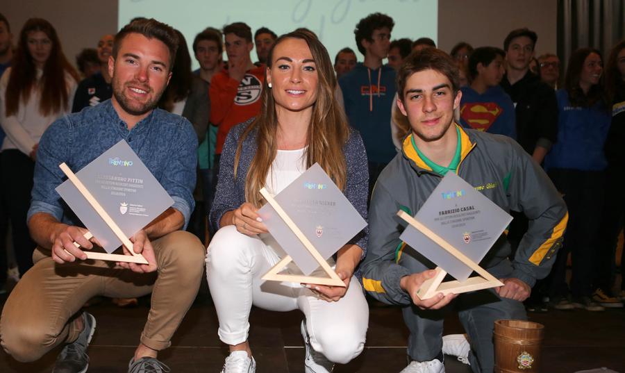 Alessandro Pittin, Dorothea Wierer, Fabrizio Casal (press office newspower)
