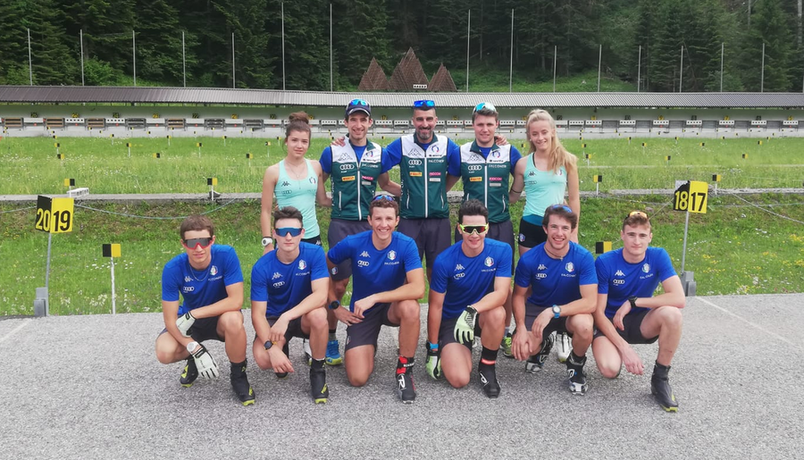 Biathlon: gruppo juniores\giovani al lavoro a Forni Avoltri