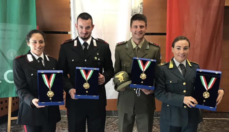 Il CONI ha premiato il biathlon italiano: Wierer e Windisch hanno ricevuto il collare d'oro, a Curtaz la palma d'oro