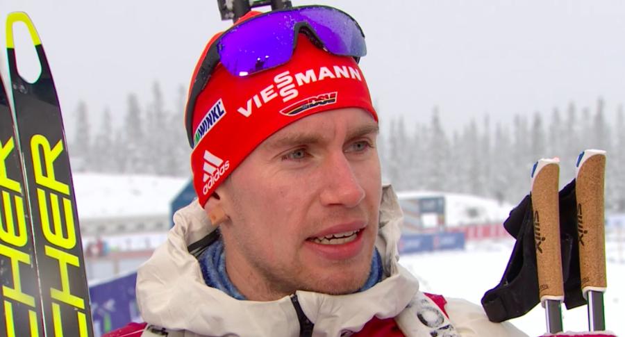 Biathlon - Dalla nevicata di Sjusjøen spunta a sorpresa Kühn: suo il successo su Andersen, Fourcade e JT Bø