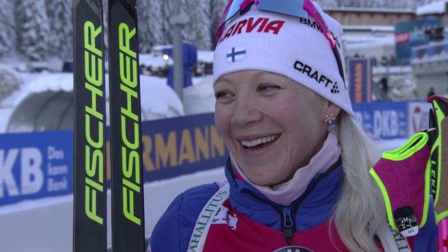 Biathlon – Kaisa Mäkäräinen profeta in patria: doppio successo a Kontiolahti