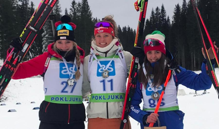 """Biathlon - Beatrice Trabucchi: """"Sono felice, non pensavo di salire sul podio"""""""