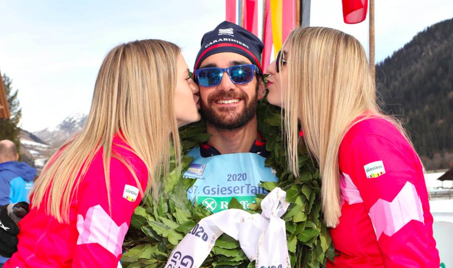 VIDEO, Val Casies 2020 - Mirco Bertolina festeggia la sua vittoria nella 42km in tecnica libera