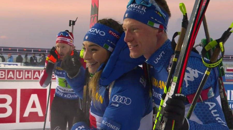 Biathlon - Wierer e Hofer sono splendidi: è argento alle spalle della Norvegia nella single mixed relay