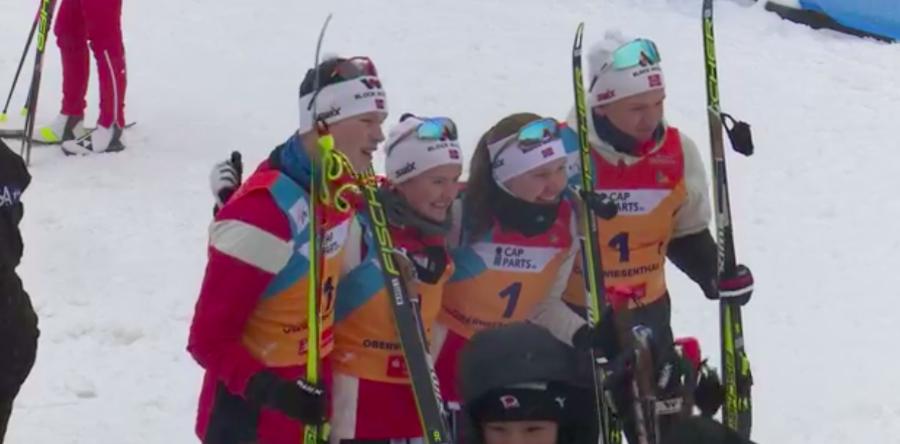 Combinata, Mondiali Juniores - Staffetta mista alla Norvegia, per l'Italia un ottimo quinto posto