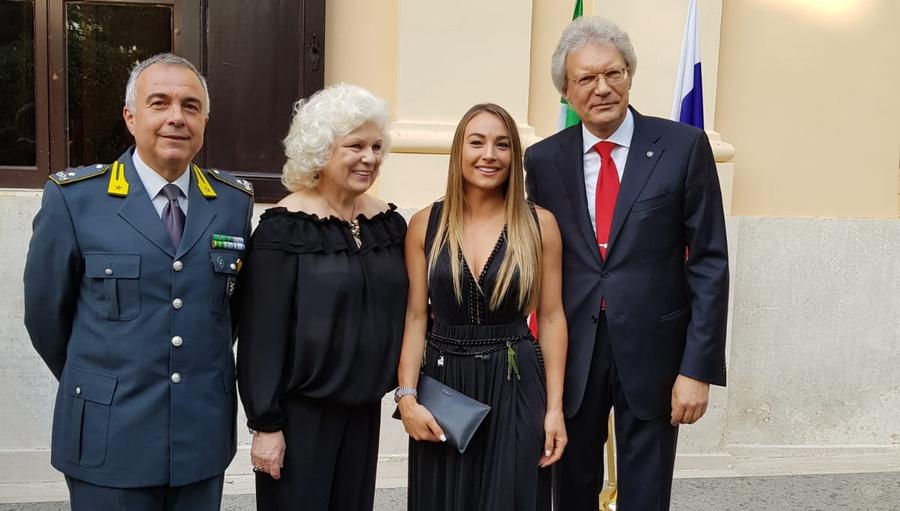 Roma: Dorothea Wierer ospite dell'Ambasciatore russo in Italia