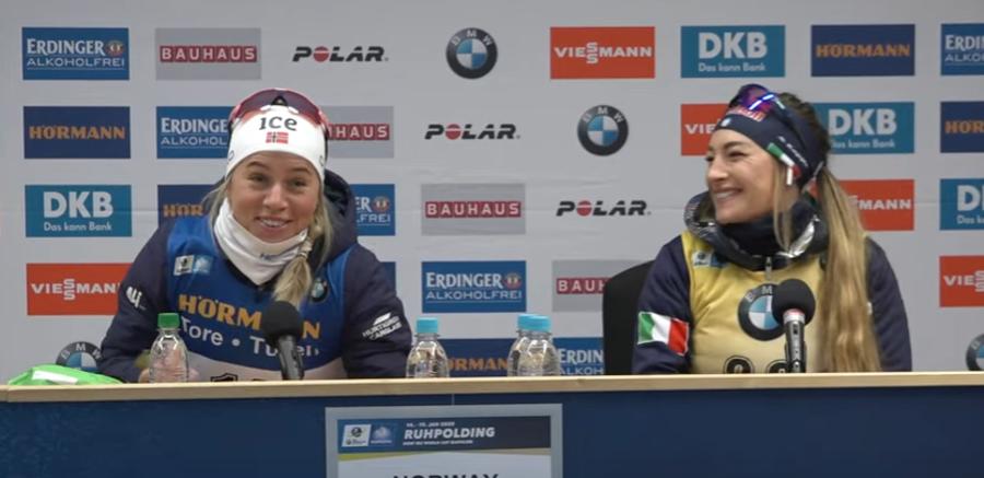 Tiril Eckhoff e Dorothea Wierer fianco a fianco
