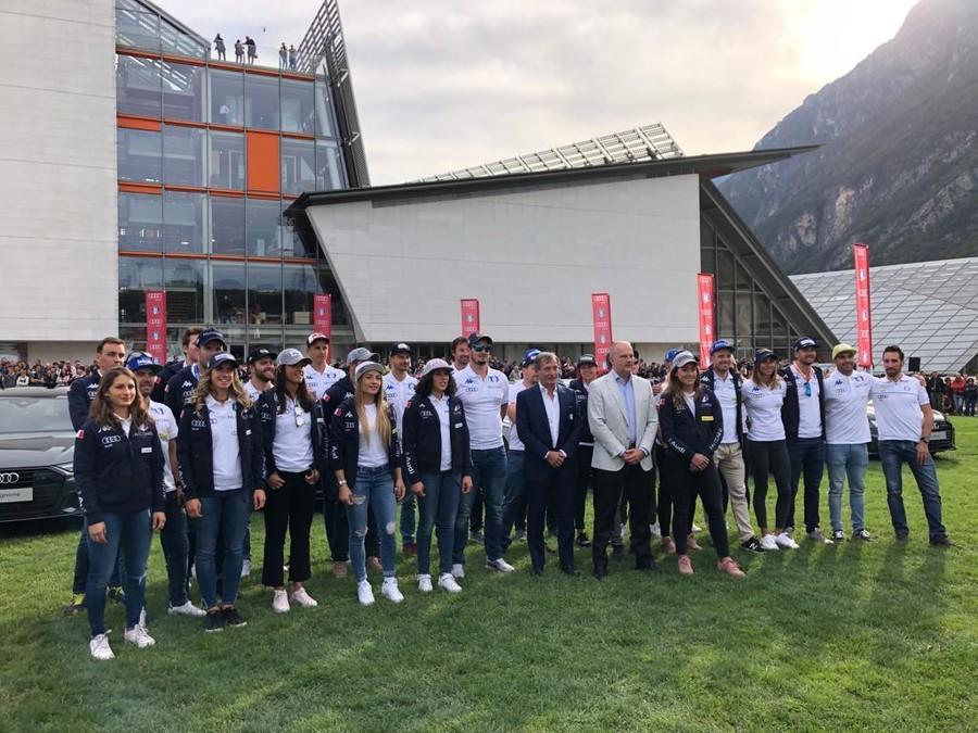 FISI-Audi, consegnate le vetture a Trento: premiati anche atleti di biathlon, sci nordico e sci alpinismo (FOTOGALLERY)