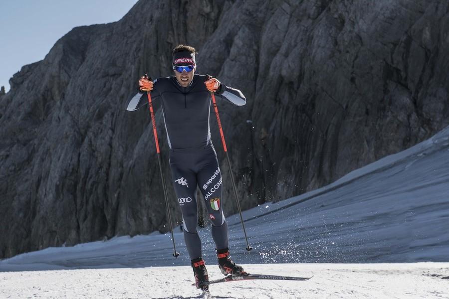 FOTO - Le prime immagini sulla neve della nuova tuta della nazionale di fondo e biathlon