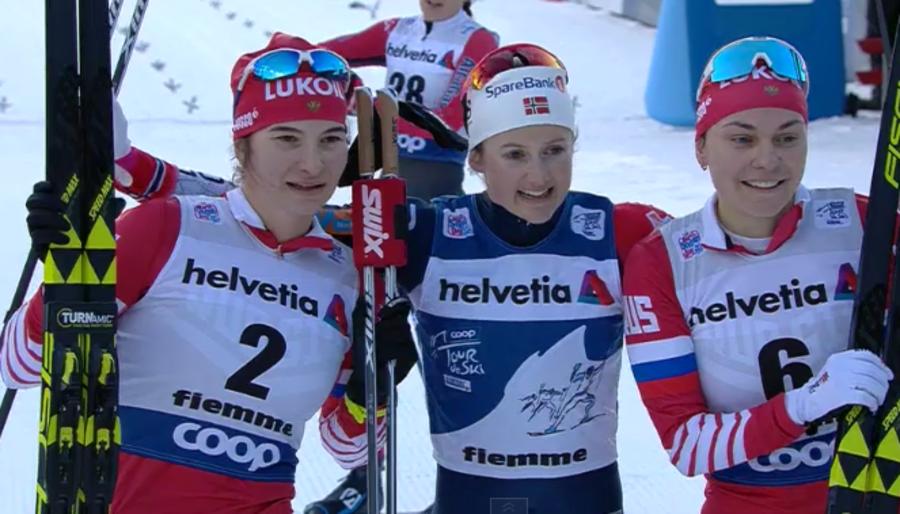 Fondo - Coppa del Mondo: Østberg domina la mass start in Val di Fiemme, Ganz ottima 15ª