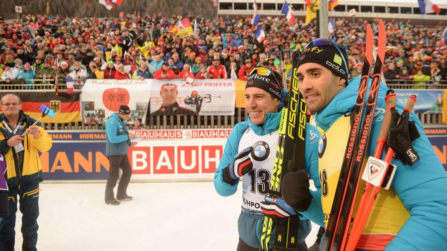 Quentin Fillon Maillet e Martin Fourcade - Foto IBU