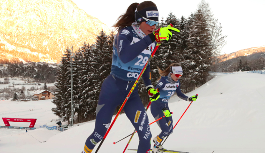 Francesca Franchi e Martina Di Centa, due esordienti al Mondiale (Foto Newspower)