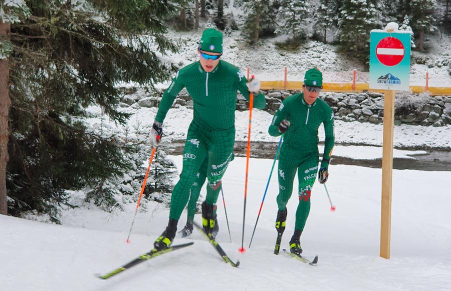 Davide Graz impegnato proprio a Davos con il compagno d'arma e campione del mondo junior Luca Del Fabbro