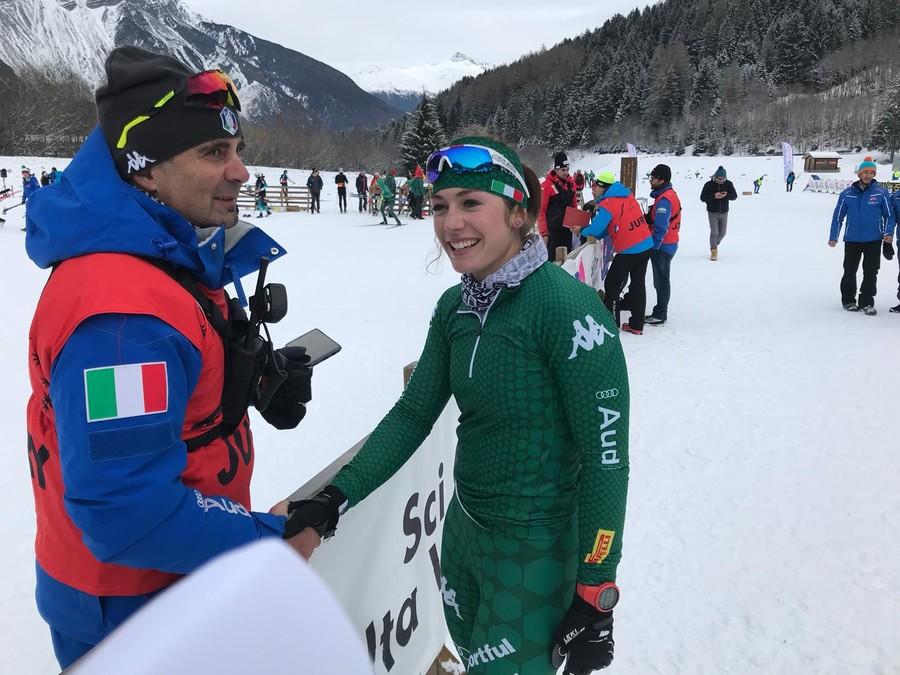 Marco Selle si complimenta con Nicole Monsorno