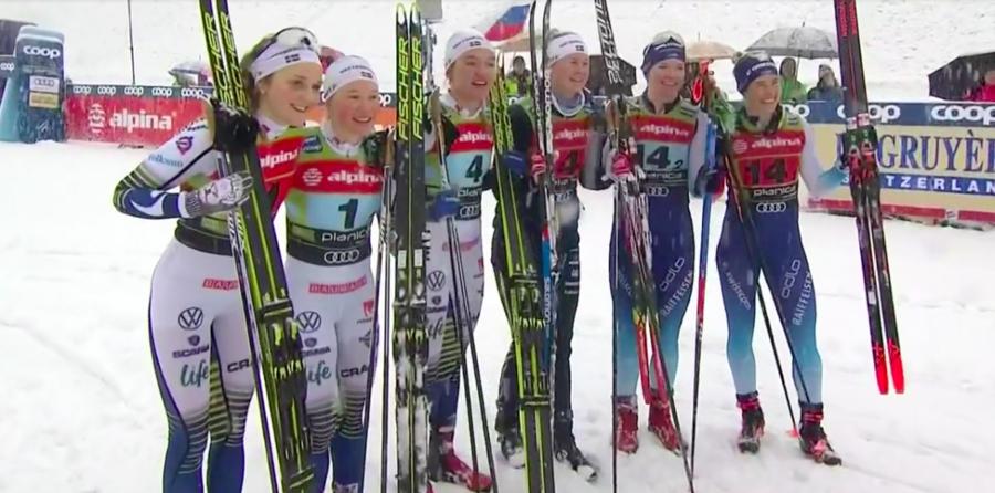 Fondo - Team Sprint: super Svahn vince in coppia con Dahlqvist davanti a Nilsson e Sundling