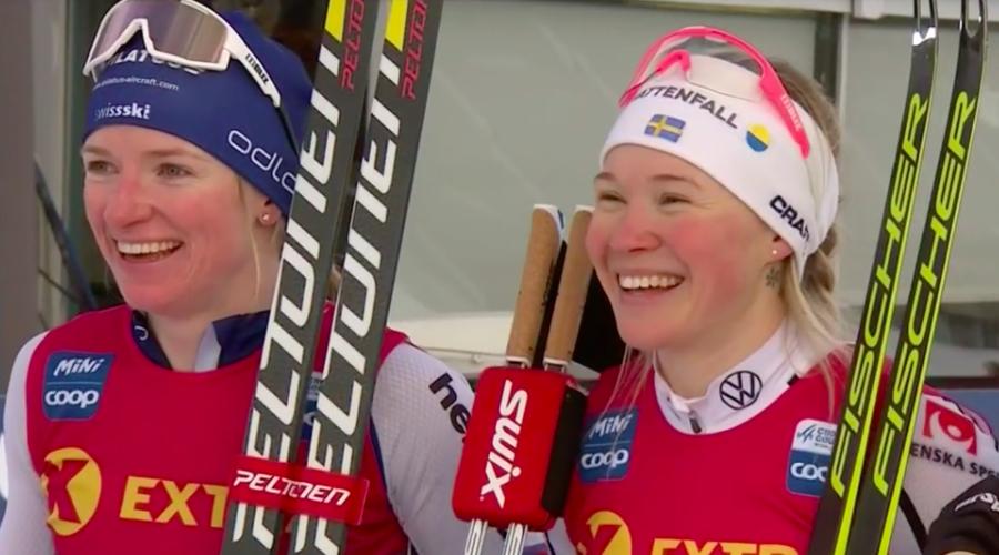 Fondo - Sprint femminile di Konnerud: Faehndrich e Skistad provano a sparigliare le carte ma vince Sundling