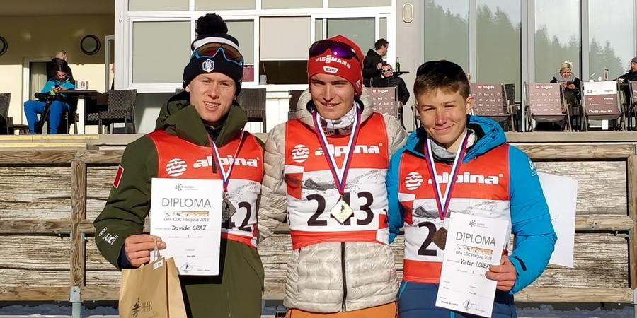 Fondo - Opa Cup Junior: 10km skating, Davide Graz secondo alle spalle di un fantastico Moch