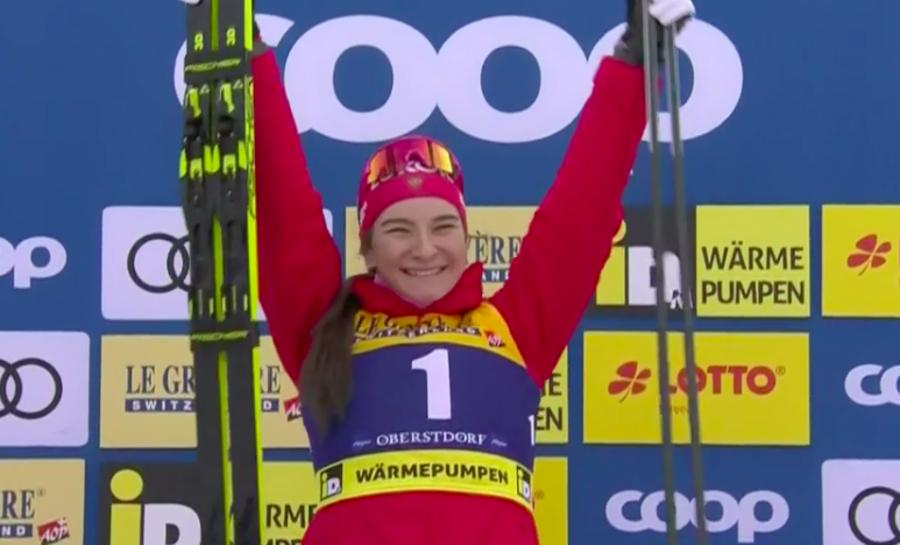 Fondo - Di forza e cattiveria Nepryaeva vince la sprint di Oberstdorf; Lampic seconda