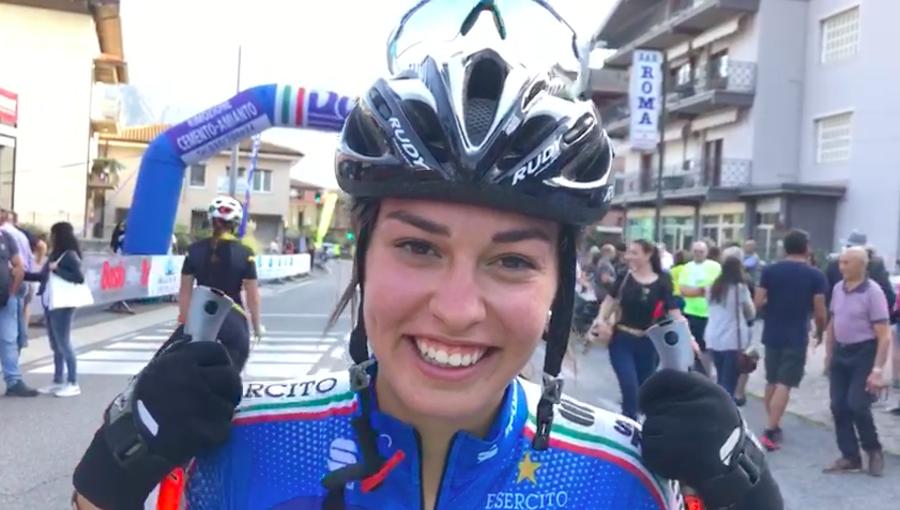 Fondo - Martina Bellini è contenta del suo quarto posto al Trofeo Penne Nere di Sovere (VIDEO)