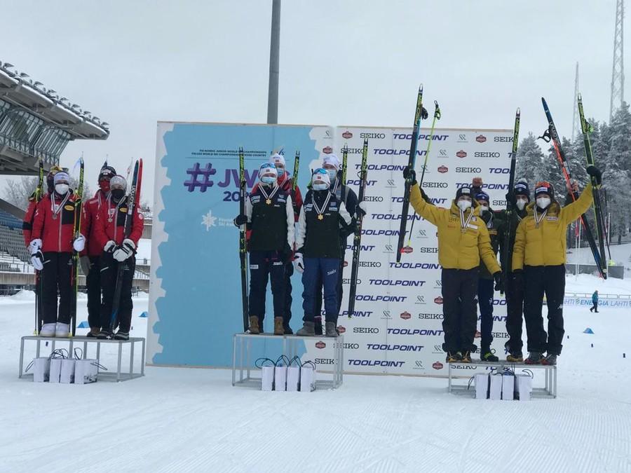 Combinata Nordica - Medaglia di bronzo per l'Italia nella staffetta mista dei Mondiali Juniores