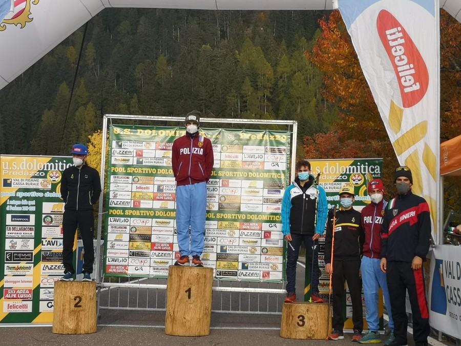 Il podio senior maschile