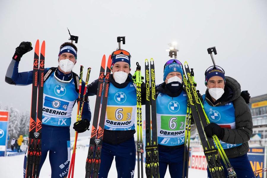 La staffetta maschile ad Oberhof - Foto Manzoni - IBU
