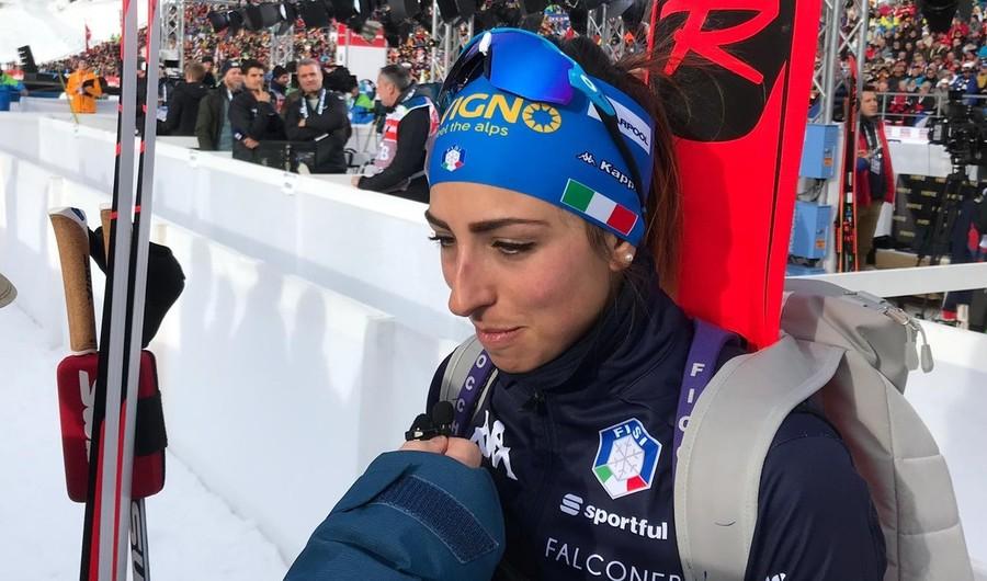 """Anterselva 2020, Lisa Vittozzi al termine della sua frazione: """"Sono contenta, sentivo la pressione ma i tifosi mi hanno dato la carica"""""""