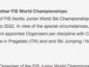 Il comunicato originale della FIS