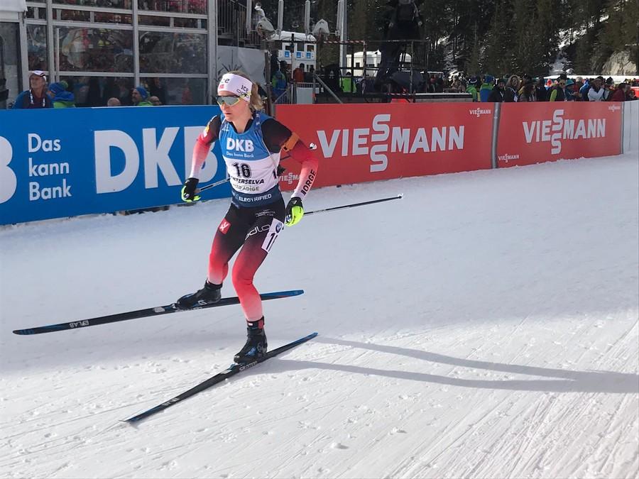 Marte Røiseland sul tracciato di gara - Foto G.Capodaglio