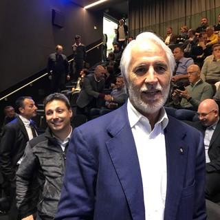 Giovanni Malagò in occasione della festa di Federico Pellegrino per l'argento alle Olimpiadi