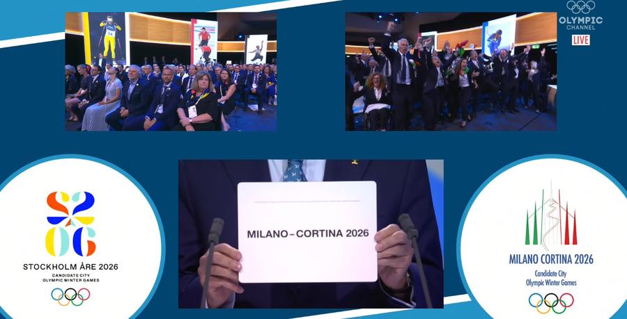 È fatta! A Milano-Cortina i Giochi olimpici invernali 2026!