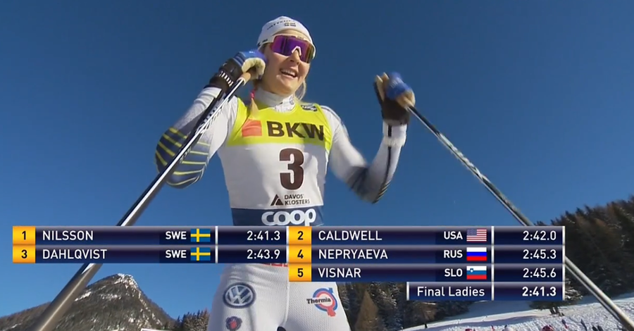 Fondo, Sprint femminile Davos – Primo successo stagionale per Stina Nilsson