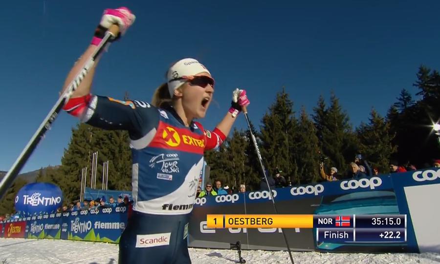 Østberg passeggia sul Cermis e vince il suo primo Tour de Ski
