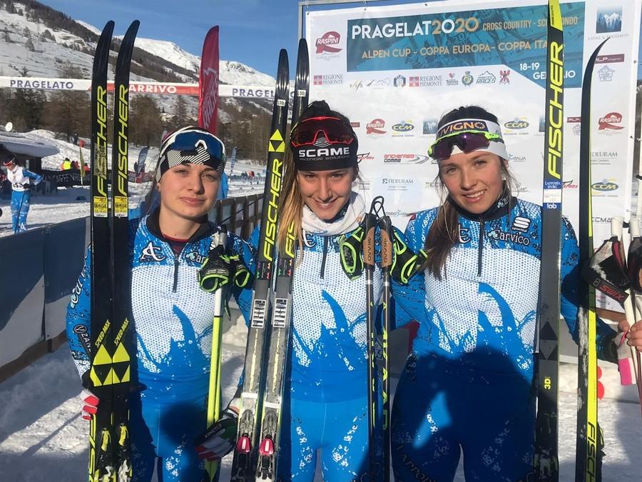 Fondo - Coppa Italia Rode U18 a Pragelato: successi per Lucia Isonni e Benjamin Schwingshackl