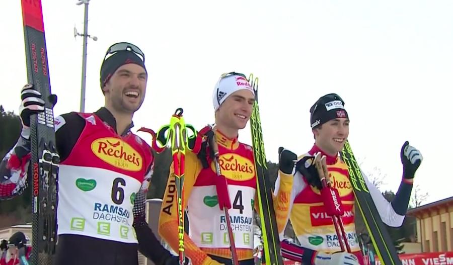 Combinata Nordica - Geiger sorprende Riiber: a Ramsau suona l'inno tedesco! Pittin rientro subito a punti