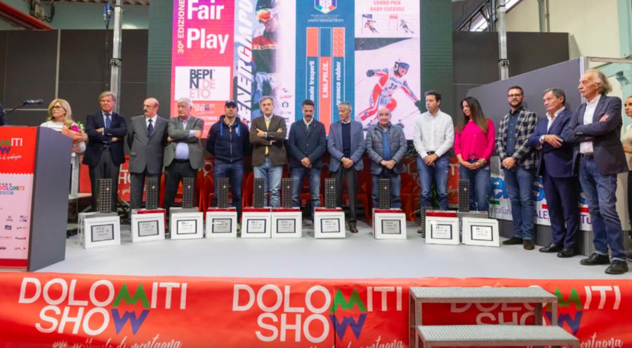 Il Comitato FISI Veneto ha assegnato il premio Fair Play a Longarone: presente il presidente Roda