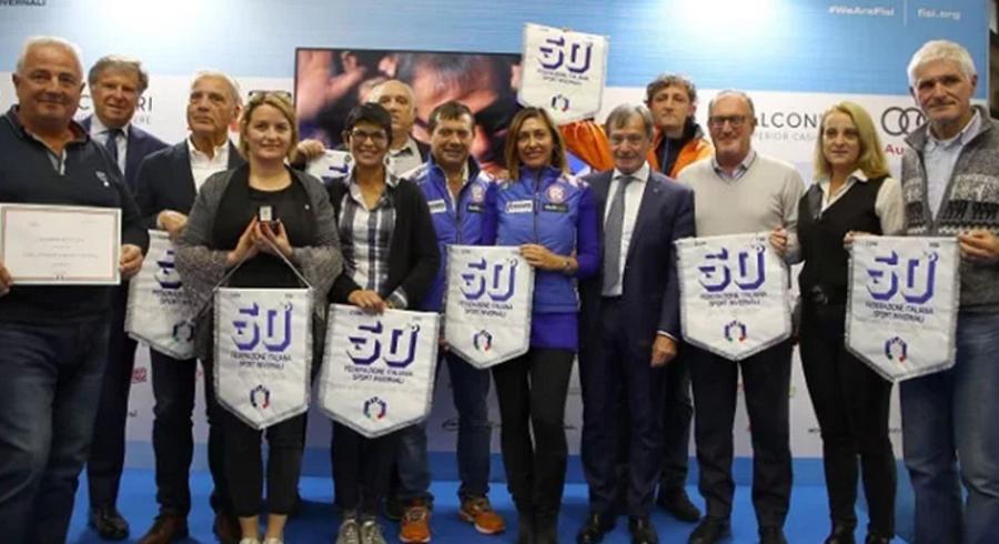 Premiati a Modena Skipass gli sci club che hanno festeggiato 50 anni di attività