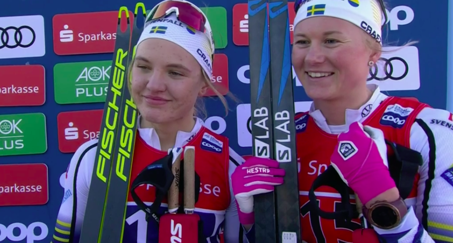 Fondo - Coppa del Mondo: Maja Dahlqvist e Linn Svahn imbattibili nella team sprint