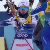 Fondo - Tour de Ski: super Svahn, la svedese torna e vince dopo un duello con Lampic poi squalificata