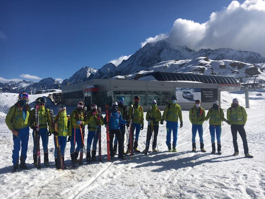 La nazionale di sci alpinismo si divide in tre gruppi: raduno tra Canazei, Cervinia e Bormio